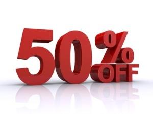 50% discount for children